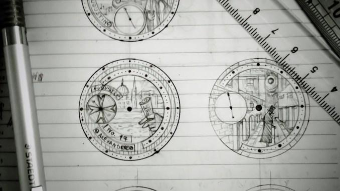 Augustin Matei sketch book