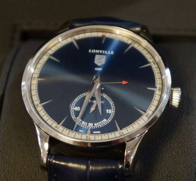 Lonville Virage '59 Blue GMT small seconds