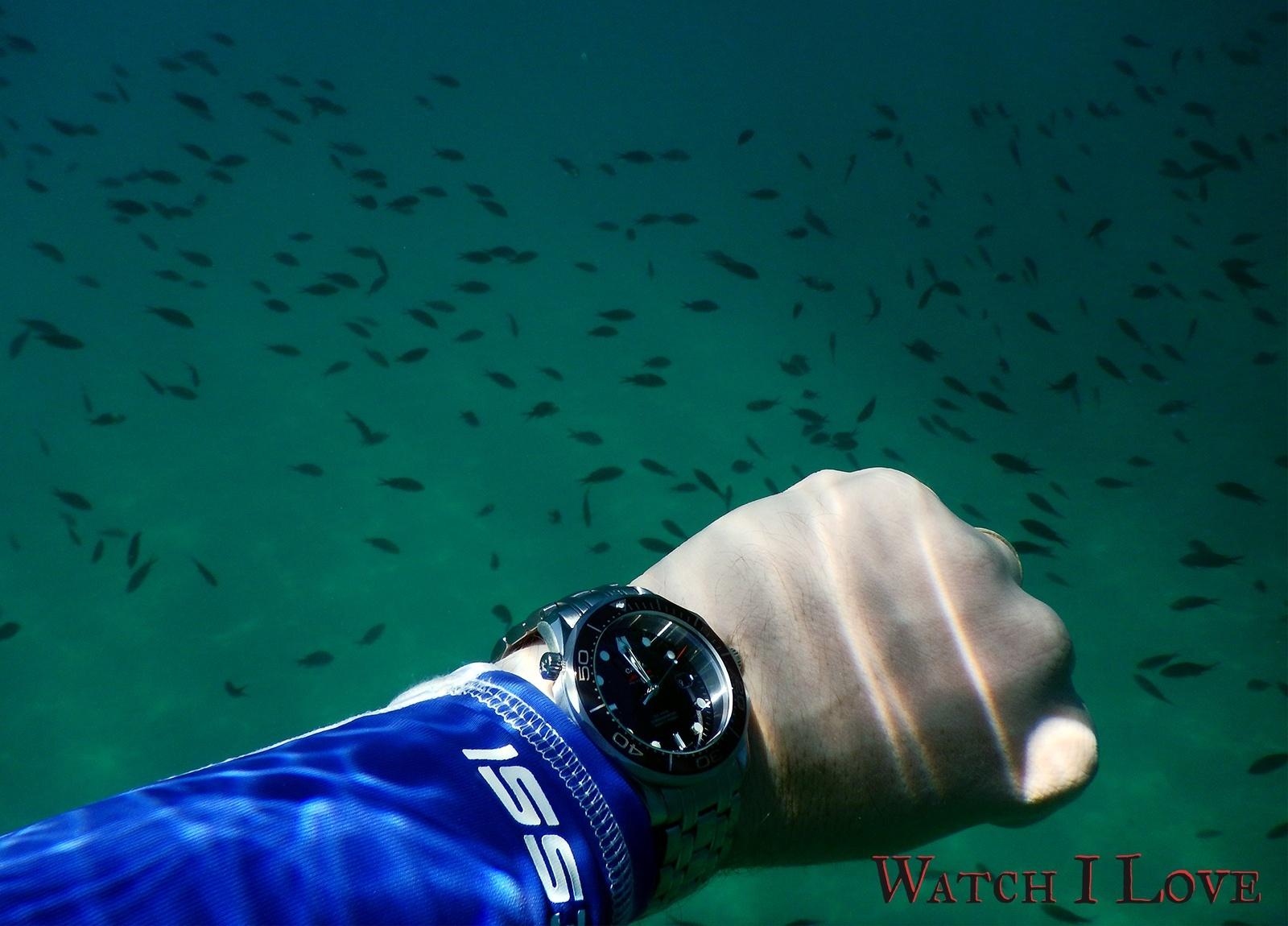 Seamaster Professional underwater wristshot