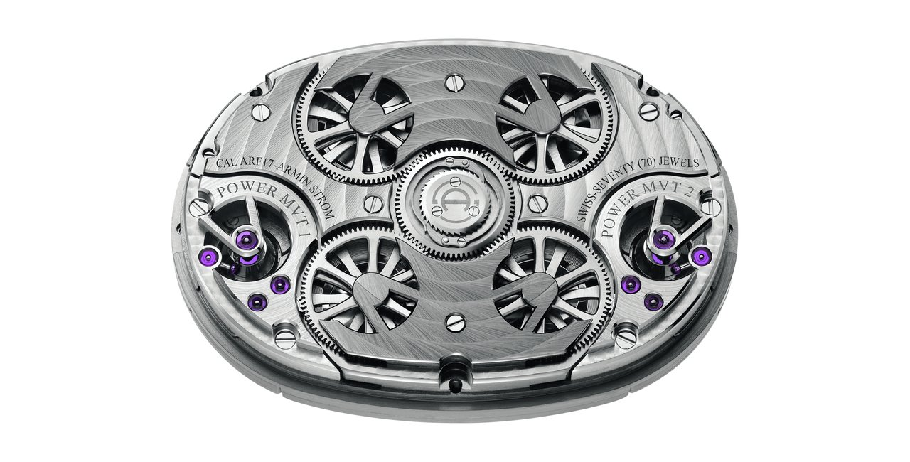 Armin Strom Dual Time Resonance Sapphire movement back