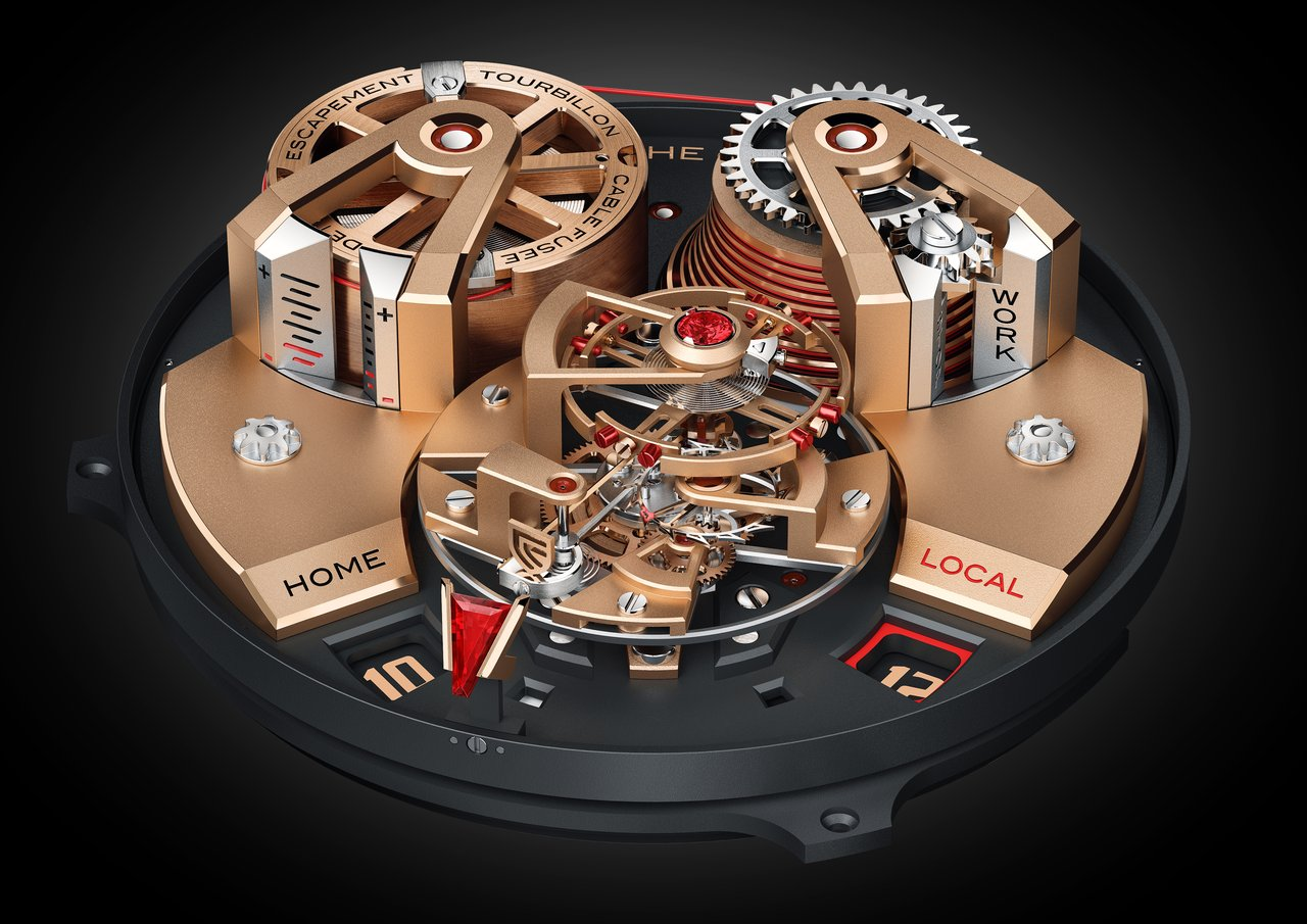 Christophe Claret mechanical hand-wound DTC08 red gold version