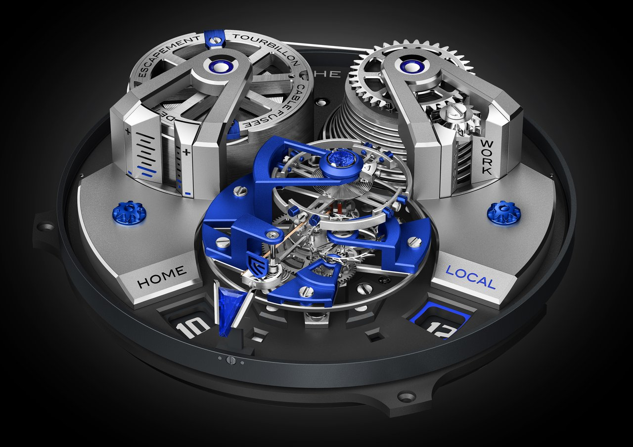 Christophe Claret mechanical hand-wound DTC08 for the titanium version
