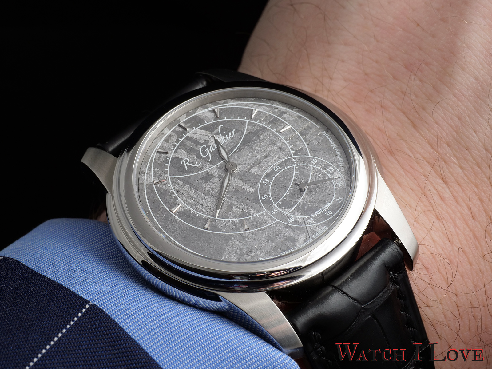 The Romain Gauthier Prestige HMS Stainless Steel on the wrist