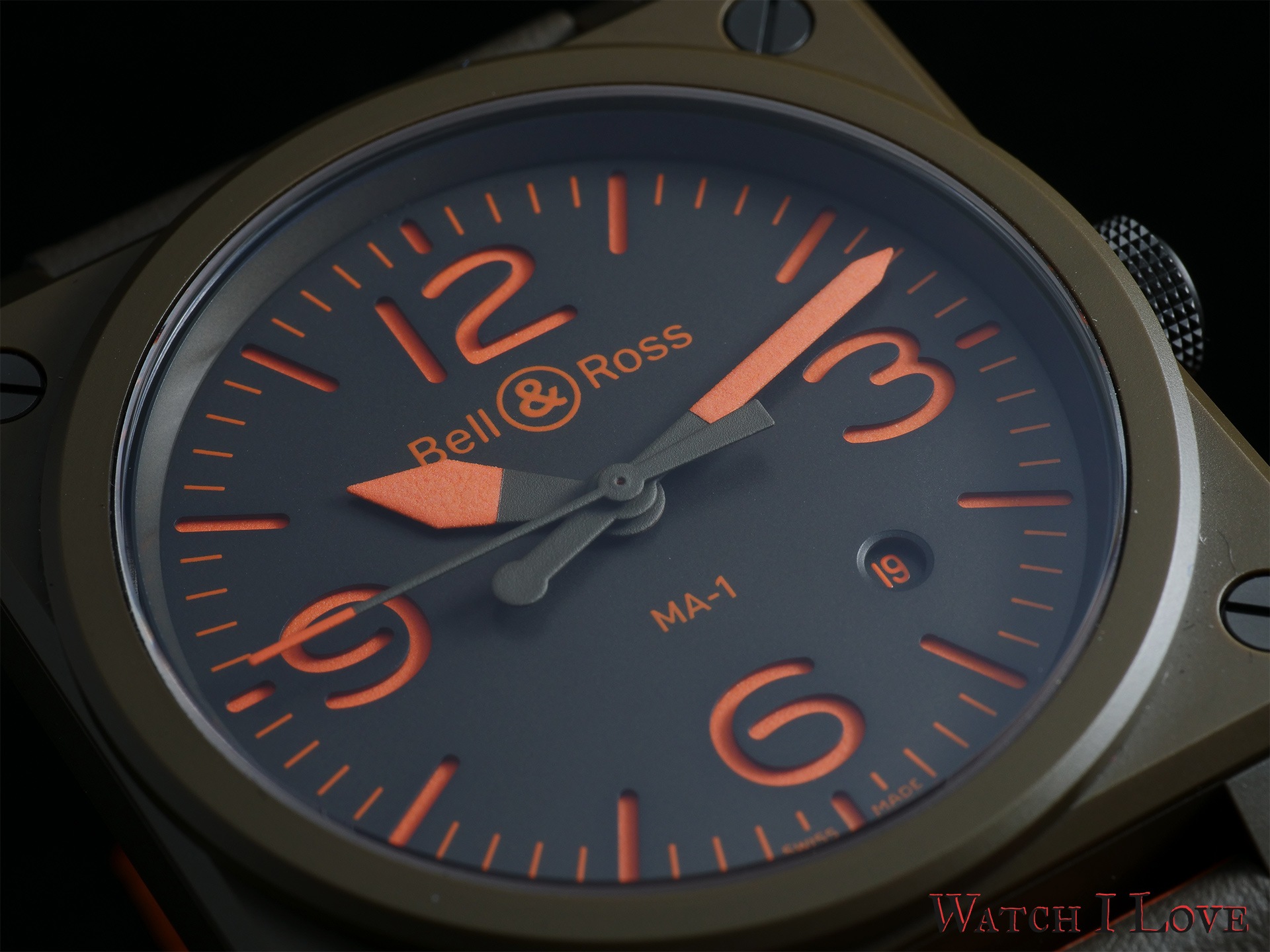 Bell & Ross BR 03-92 MA-1 dial