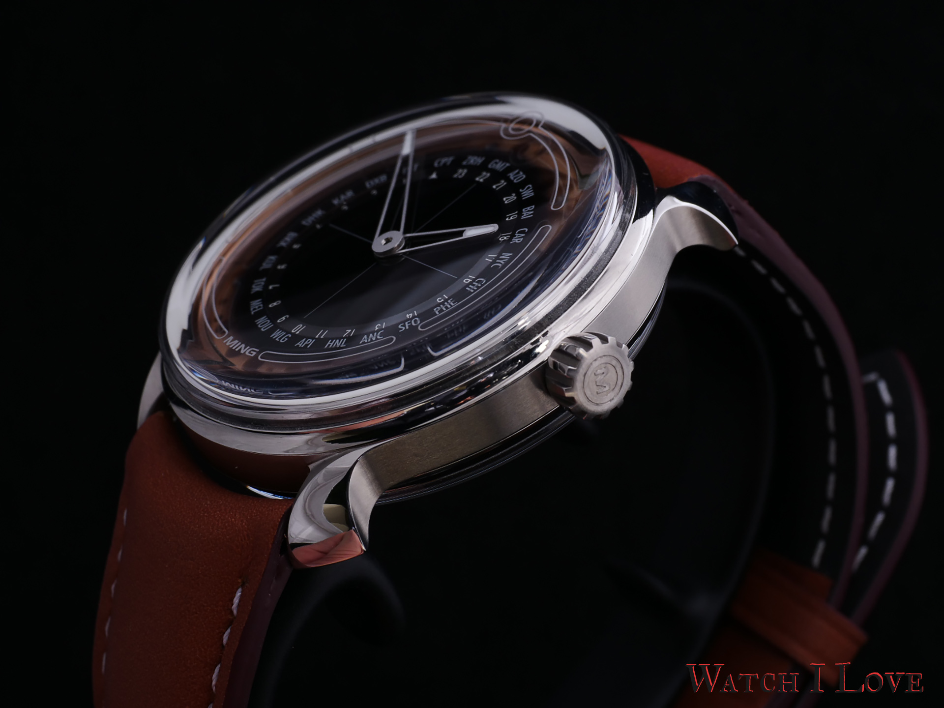 MING 19.02 Worldtimer oblique with crown
