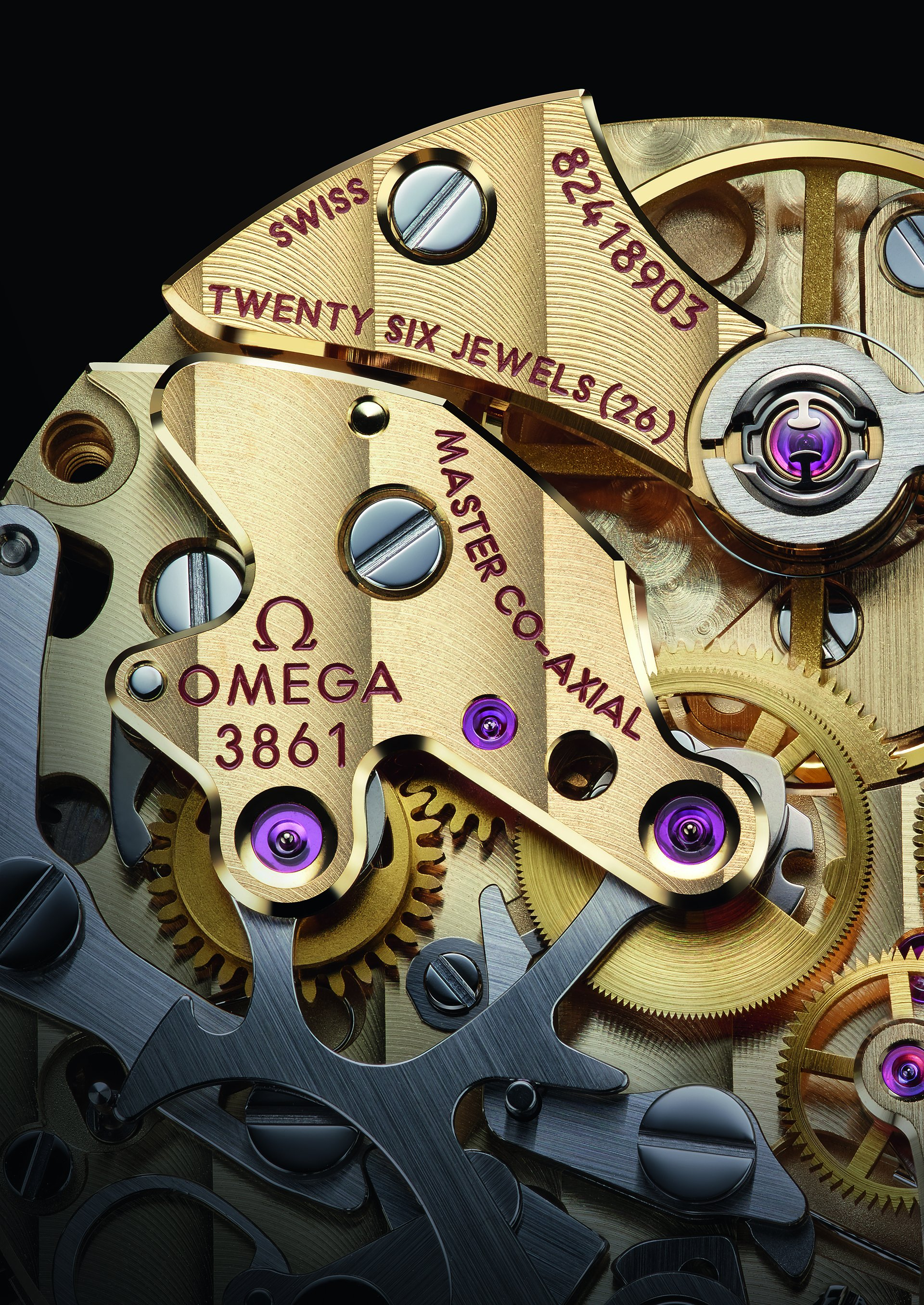 Omega Calibre 3861 moonshine gold