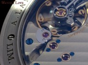 This what you pay at a Lange 1 watch: excellent made finishes. Note the polished gold chatons fixed with polished thermally blued screws.