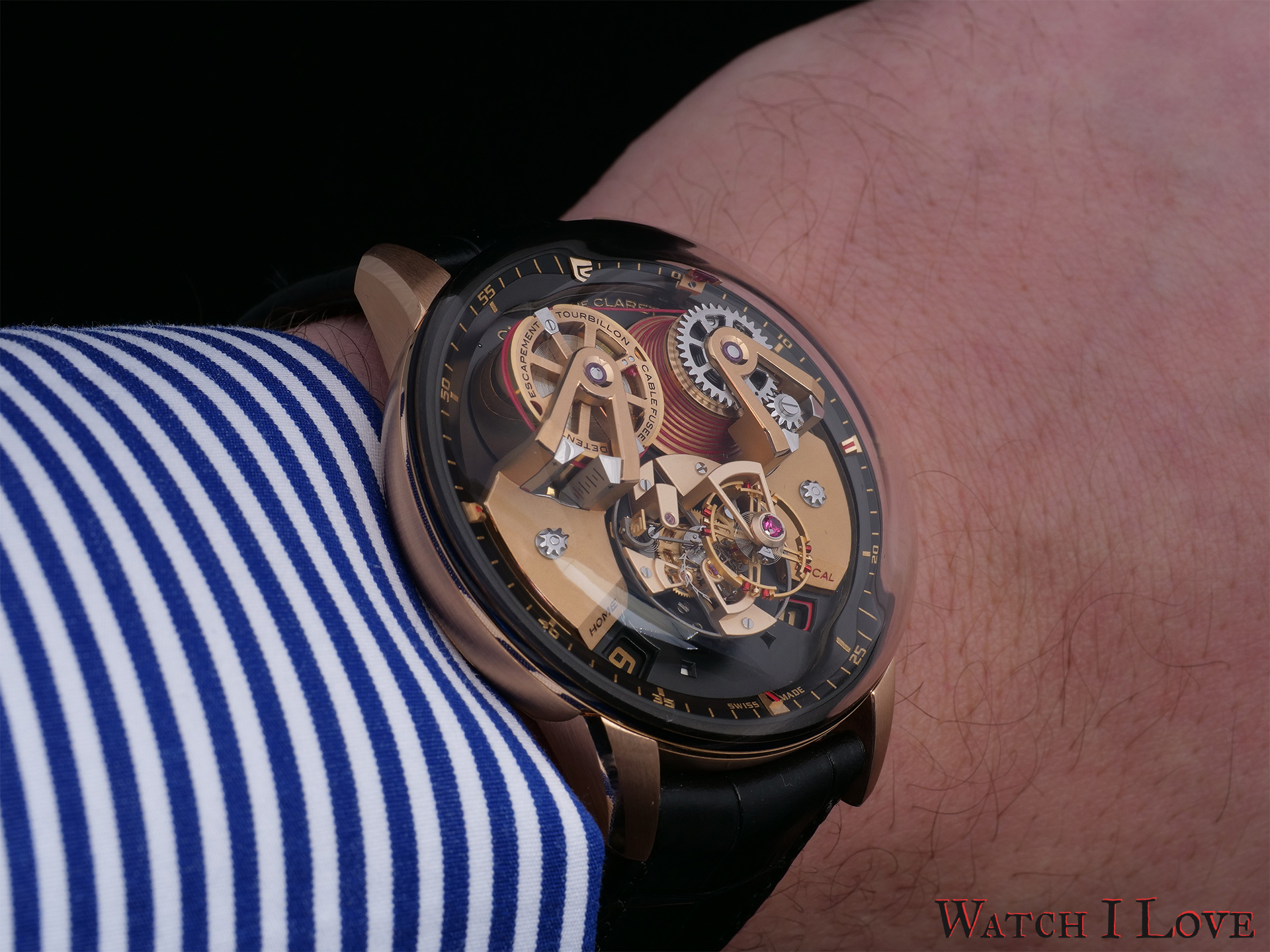 Angelico red on the wrist