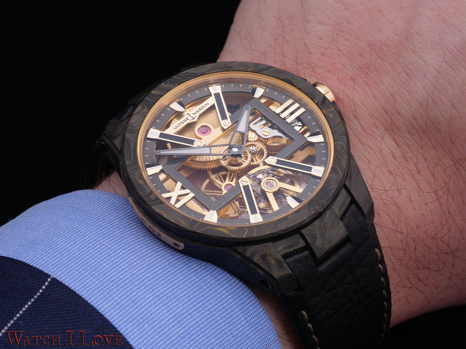Ulysse Nardin Skeleton X Carbonium on the wrist