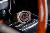Blasta Watch Scuderia Veloce, argento Photo taken on the console of a Alfa Romeo Montreal. ©2019 Blasta Watch Ltd. All Rights reserved.