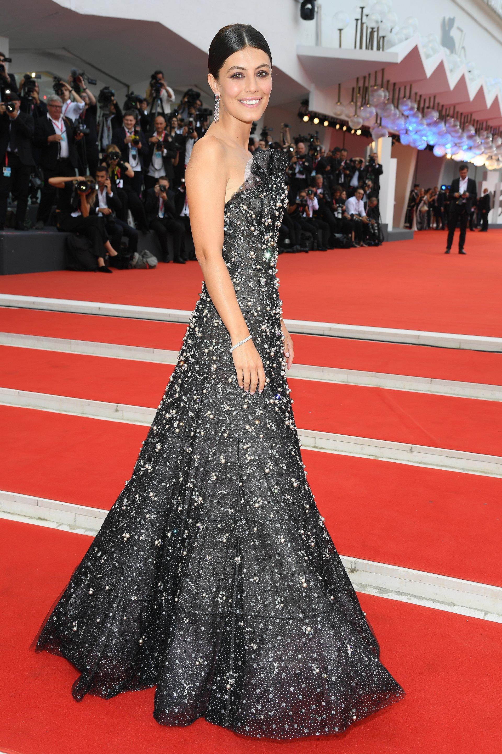 God mother of the 76th Venice International Film Festival, Alessandra Mastronardi wore the 101 Feuille for the Opening Ceremony