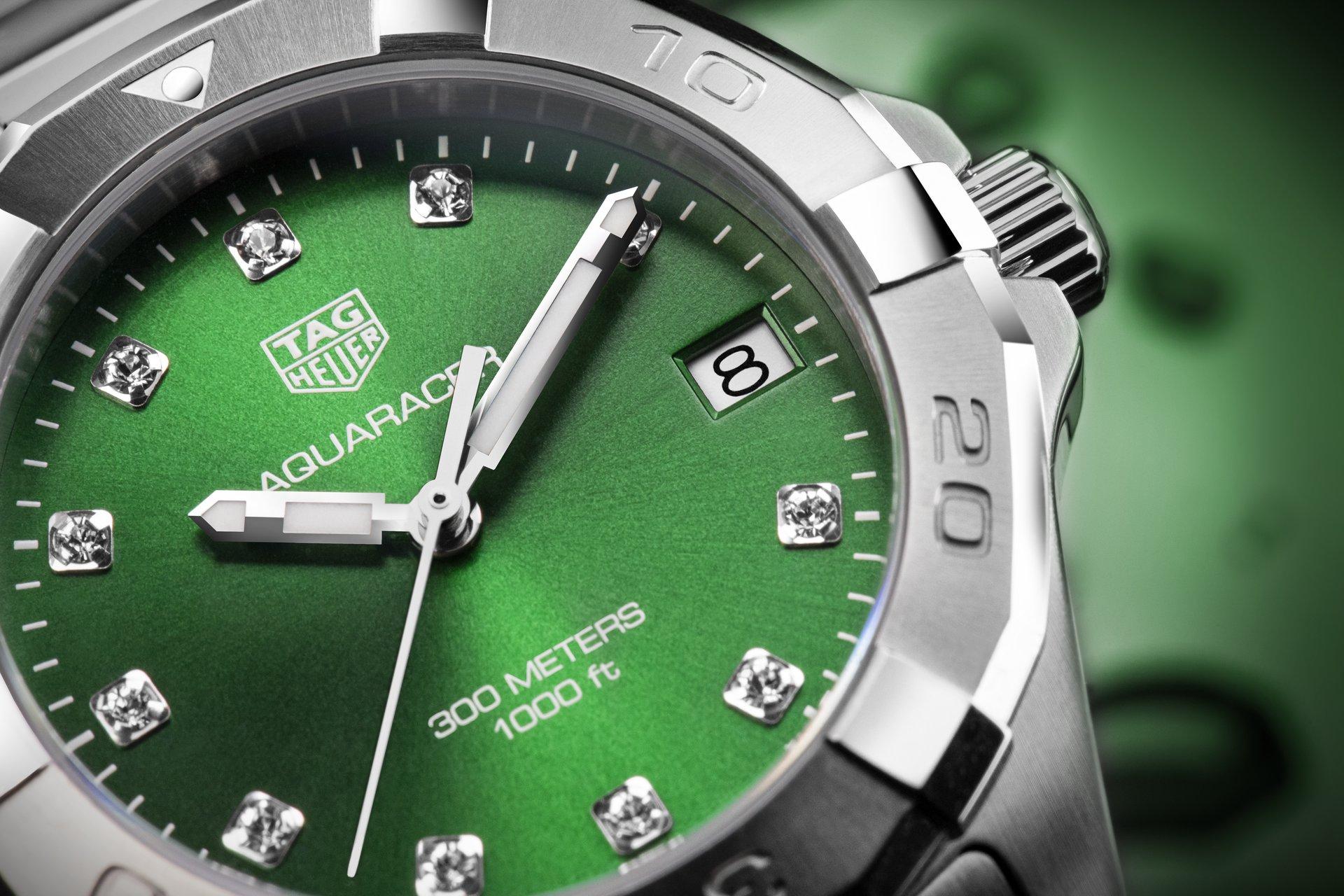 TAG Heuer Aquaracer Ladies Green Dial