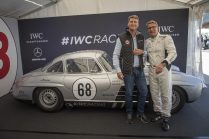 """AROSA, SWITZERLAND – 01. September 2019: Linus Fuchs, IWC Managing Director Switzerland and Bernd Schneider attended the 15th Arosa Classic Car where the IWC Racing Team showed up on the grid for the second time. Bernd Schneider drove the Mercedes-Benz 300 SL """"Gullwing"""" on the winding 7.3 kilometre hill-climb route from Langwies to Arosa. (Photo by Ilja Tschanen, module+ for IWC)"""