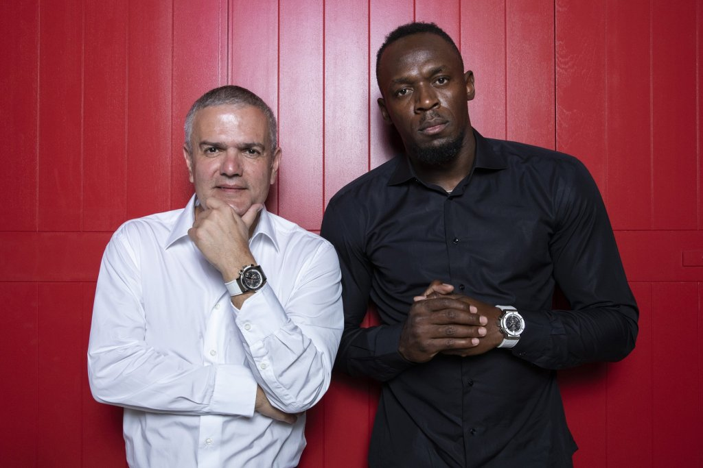 Ricardo Guadalupe and Usain Bolt
