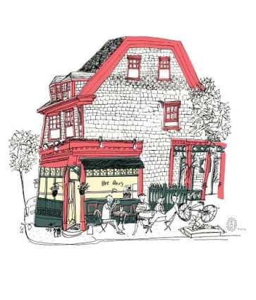 "An illustration from Emma Fitzgerald's book, ""Hand Drawn Halifax."""