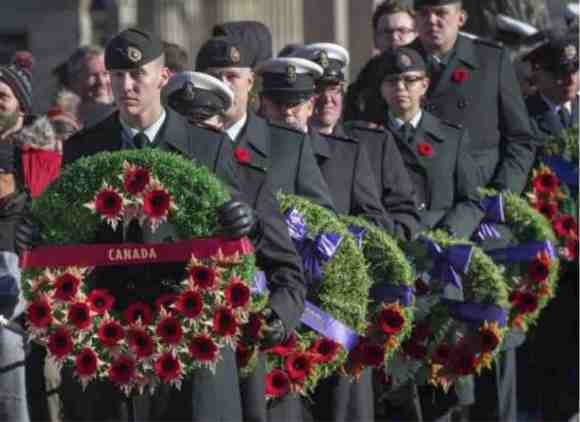 Members of the Canadian Armed Forces participate in Remembrance Day ceremonies at the Grand Parade in Halifax on Saturday, Nov. 11. (THE CANADIAN PRESS/Andrew Vaughan)