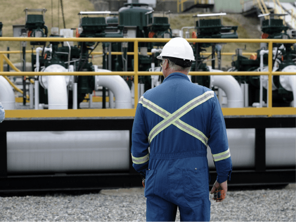 Kinder Morgan's Burnaby Terminal in Burnaby, B.C., the end point of the Trans Mountain pipeline. (Courtesy Nick Procaylo/PNG)
