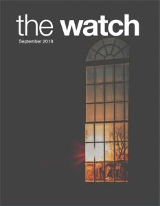 The September 2019 cover of The Watch.