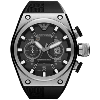 Emporio Armani Super Meccanico Limited Black Chronograph