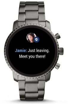 Phone notification on watch screen