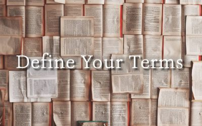Define Your Terms