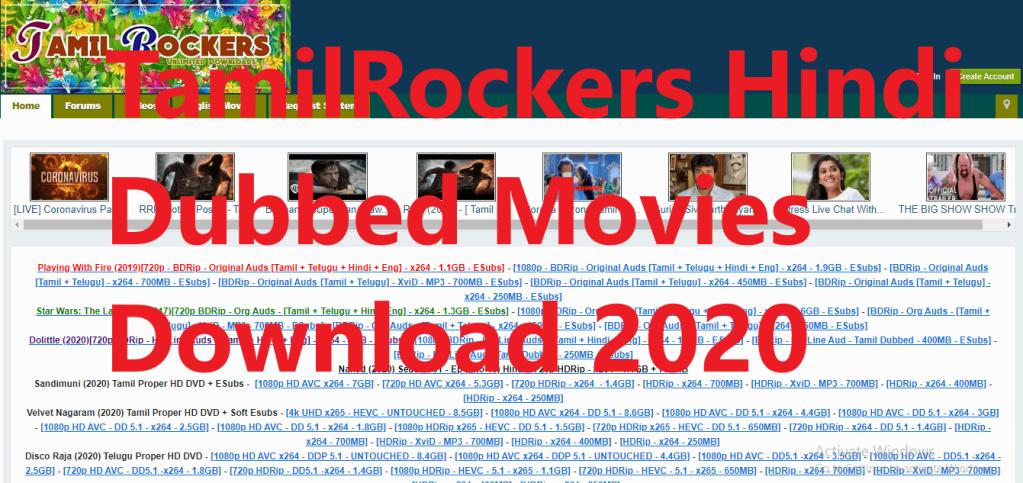 TamilRockers Hindi Dubbed Movies Download 2020