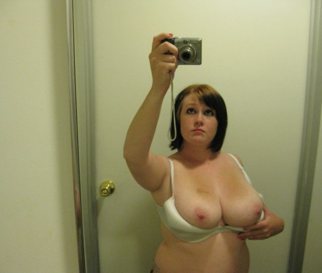 Chubby Amateur Slut And Her Big Natural Tits In The Bathroom