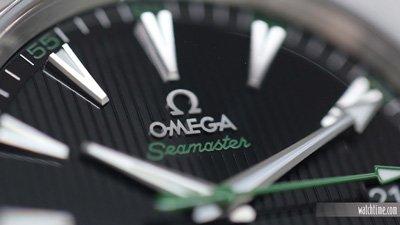 omega watch macro shot
