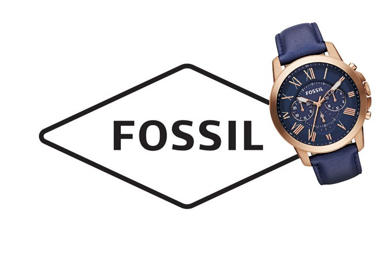 fossil logo and watch