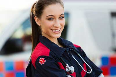 female emt on the job