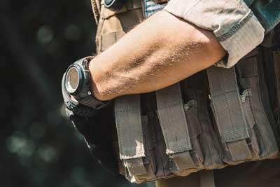 military, soldier wearing wrist watch