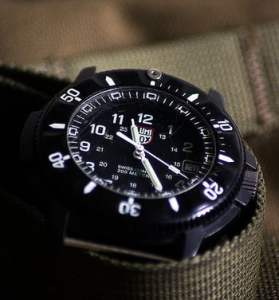 close up of Luminox watch