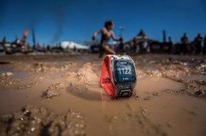 tomtom watch in mud