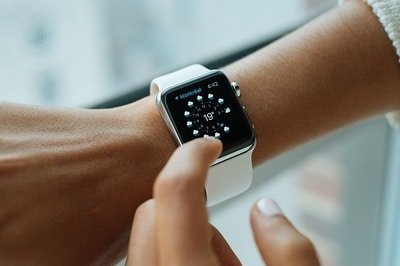 smart watch on wrist