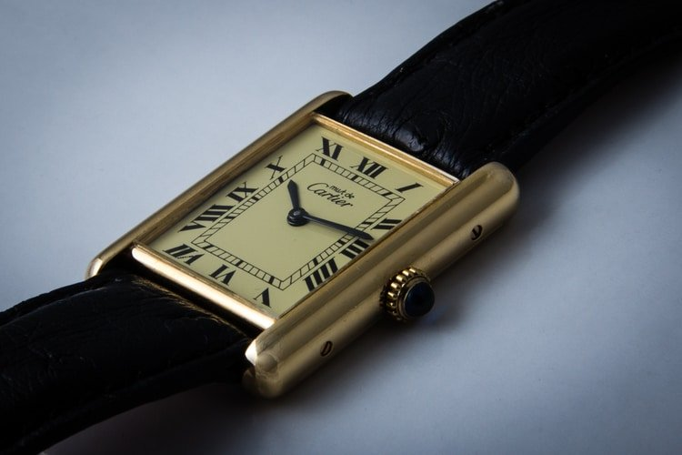 tank watch by cartier