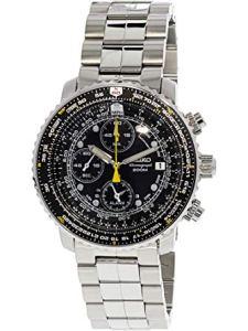 Seiko Flight Alarm Chronograph Stainless Steel Watch