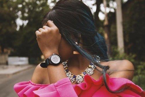 black watch on wrist