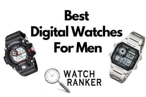 picture of two men's digital watches