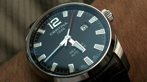 certina watch close-up