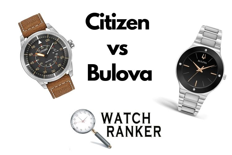 citizen and Bulova watches