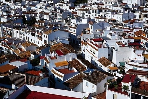 Typical village in southern spain