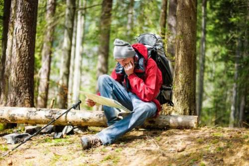 man checking man woods