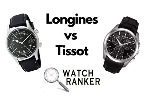 longines and tissot watches side by side