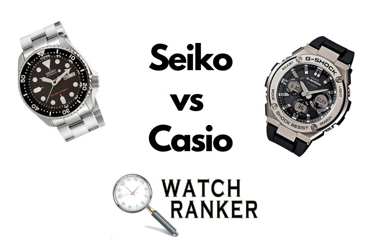 casio and seiko watch side by side
