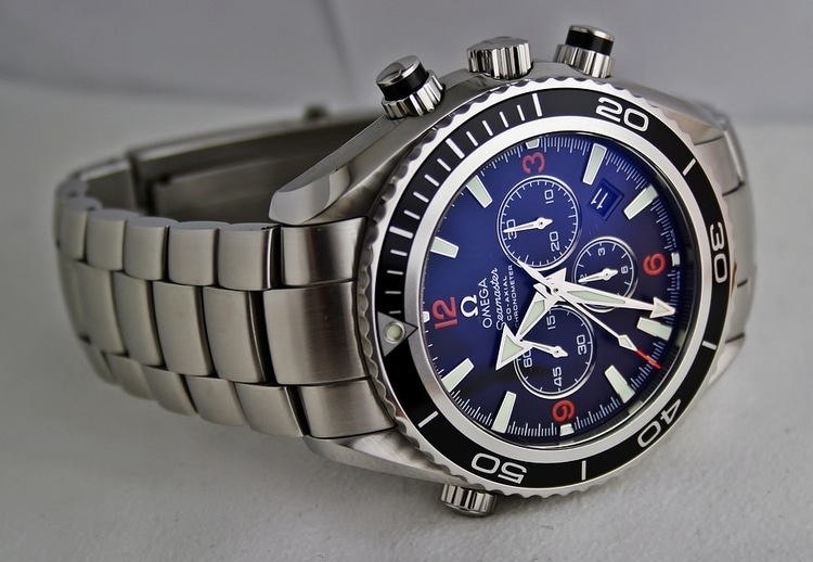 blue dial watch for men
