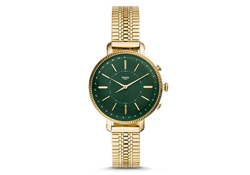 Fossil Cameron Gold-Tone Stainless Steel Hybrid Smartwatch (FTW5056P)