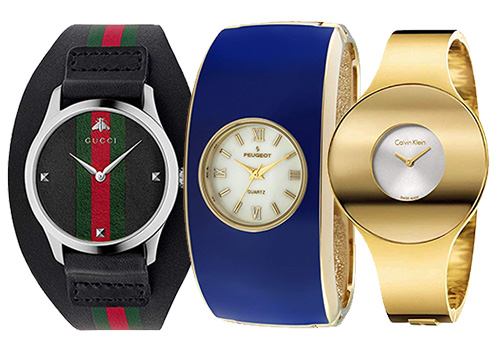 three cuff watches