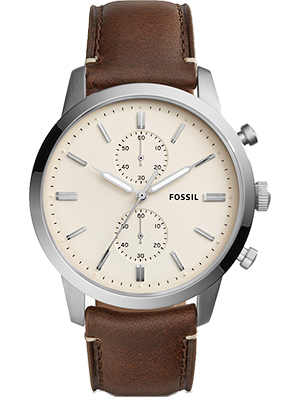 Fossil Townsman Brown Leather Strap