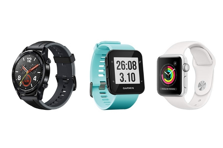 three smartwatches side-side