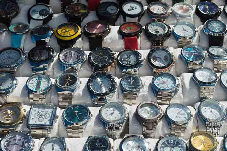 Counterfeit Watches on Display